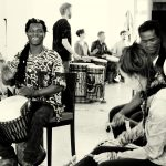 Curso de Percussion con /Trommelkurs mit Alpha Oulare